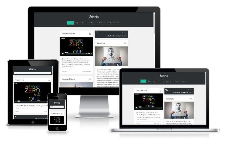 http://wpthemess.net/diarjo/ Diarjo  is a minimal  #WordPress #theme, for manage your personal blog