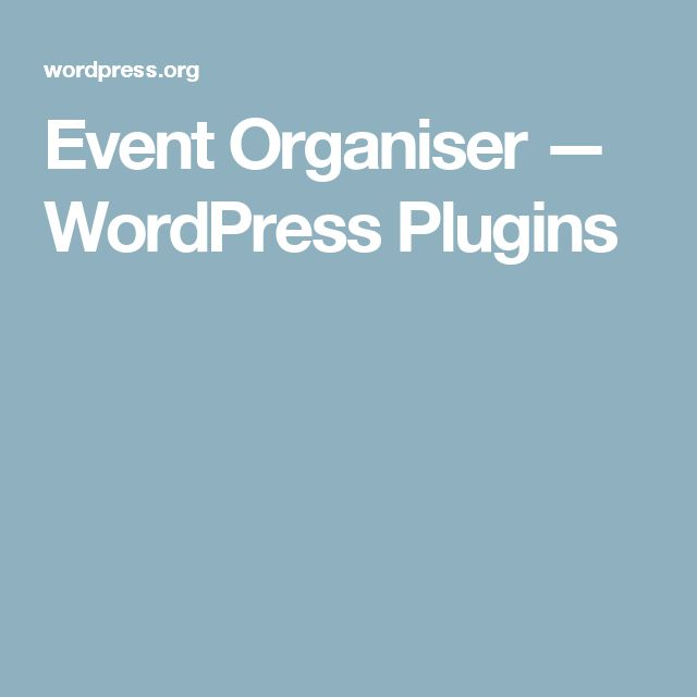 Event Organiser — WordPress Plugins