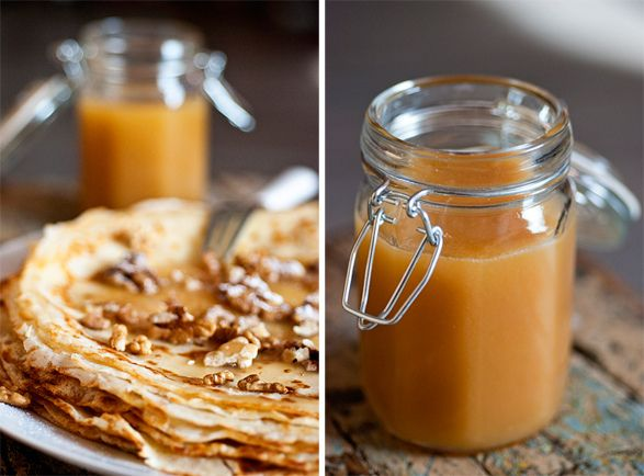 Perfect crepes with Salted Caramel Sauce