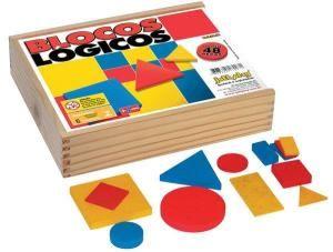 Blocos Lógicos (48 peças em madeira) - Jott Play