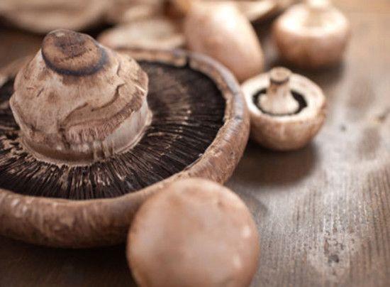 cogumelos recheados com frango