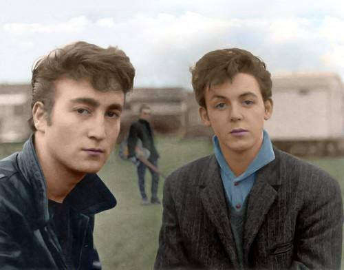 Young Lennon and McCartney