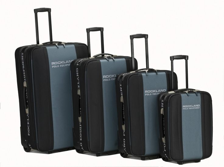 Rockland Polo Equipment 4 Piece Luggage Set F50-ORANGE | Luggage Pros