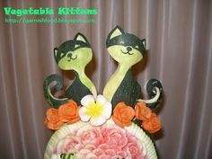 cats vegetable garnish twins baby shower