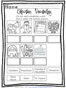Election Mini Unit - Reader, Poem, and Election Activities
