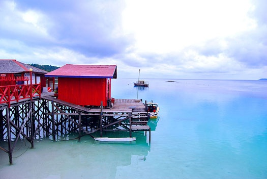 Maratua, Derawan Island, East Kalimantan. Famous for its turtles and non-stinging jellyfish. www.sunnyindonesia.com.