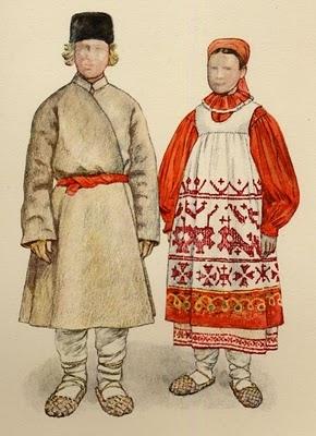 A blog with detailed information concerning folk costumes.  (Kaluga Province)