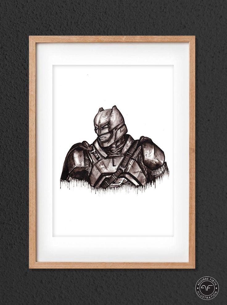 """""""Batman Print"""" by Aguirre Firth Illustration    SHOP:  www.aguirrefirth.com  Follow on:  Instagram: www.instagram.com/aguirrefirth Twitter: www.twitter.com/aguirrefirth"""