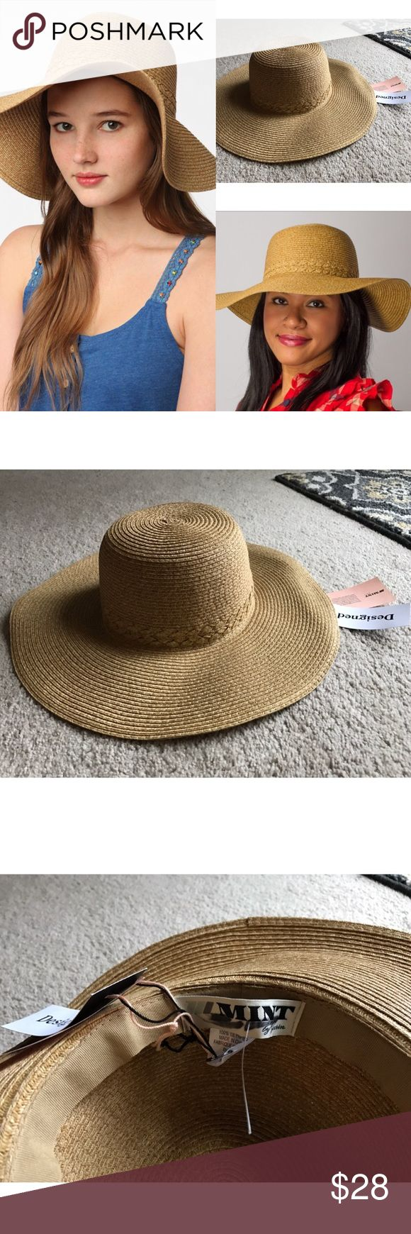 NWT mint straw floppy hat braided band beach uo NWT mint by gorin brothers from urban outfitters straw floppy hat with braided band 🚫NO TRADES Urban Outfitters Accessories Hats