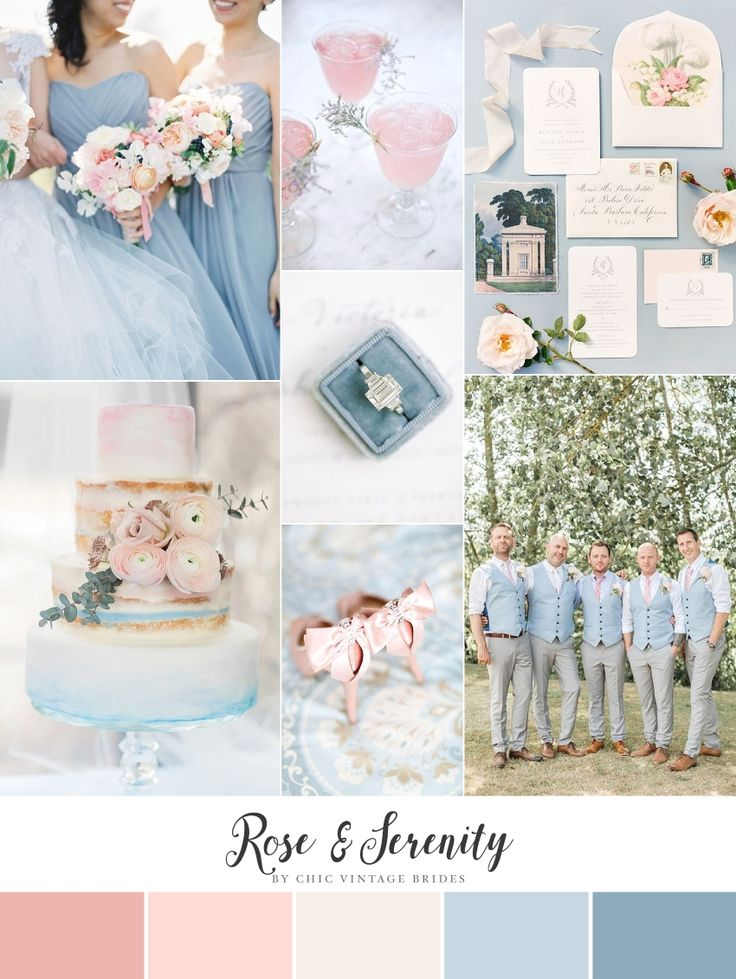 Rose & Serenity - Romantic Wedding Inspiration in Pantone's Colours of the Year