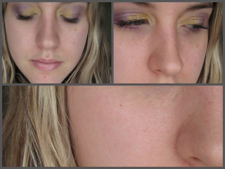 purple and gold look  http://www.youtube.com/watch?v=EiSF7GG90vI