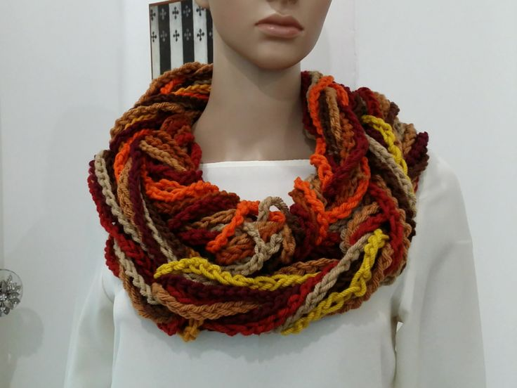How To Crochet Scarf Tutorial Pattern #2 (Infinity Scarf)