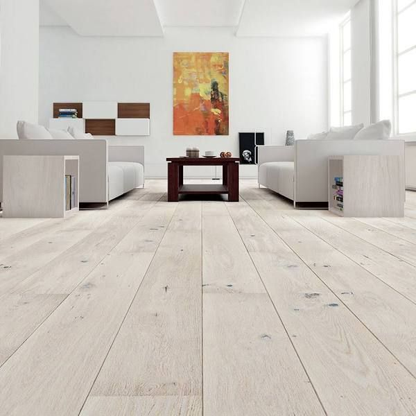 white wooden flooring