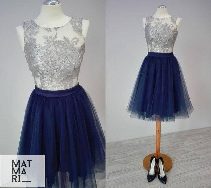 Komplet-koronkowy top ze spódnicą tiulową  - MatMari - Suknie wieczorowe