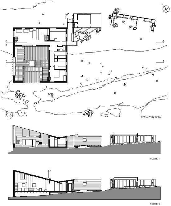 Muuratsalo Experimental house (1953) Muuratsalo_Finlandia_Alvar Aalto_plan