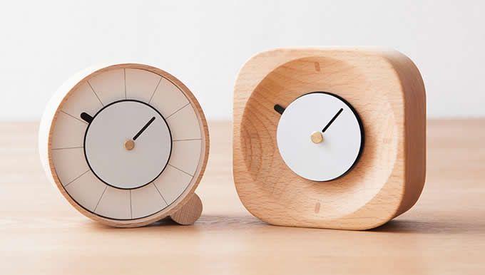 Wooden Desk Clock Hexagonal Table Table Alarm Clock Wooden Desk
