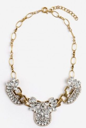 Gold Statement Necklace $26