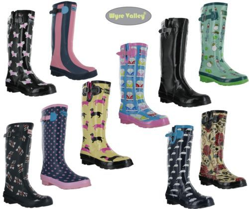 Womens-WYRE-VALLEY-Ladies-Wellies-Muck-Wellington-Festival-Shoes-Boots-Size-3-8