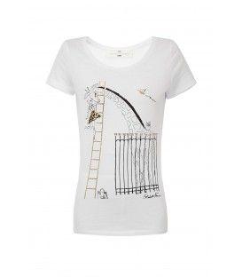 T-shirt stampa giraffa