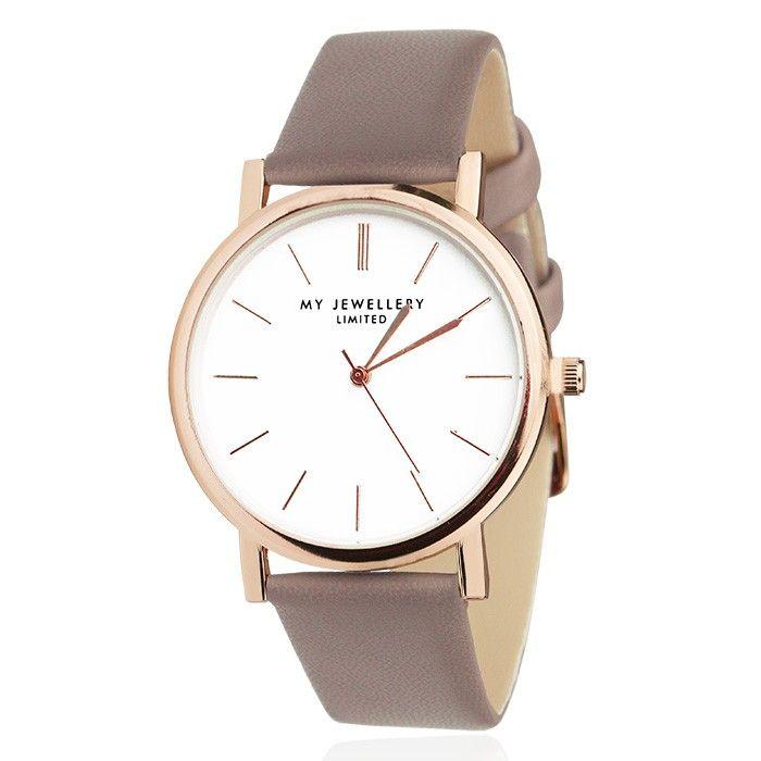 Horloge taupe, minimalistische trend