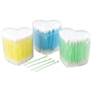 "Rosallini 3 Packs 170 Pcs Disposable Double End Tri Color Plastic Tube Cotton Swab Buds by Rosallini. $6.76. Product Name : Cotton Bud;Material : Cotton, Plastic. Package Content : 3 Packs x Cotton Buds. Each Pack Quantity : 170 Pcs (±2%);Color : White, Blue, Green, Yellow. Size(Each) : 7 x 0.5cm/ 2.8'' x 0.2'' (L* Max.D);Case Size : 6.2 x 7.6 x 7.6cm/ 2.5"" x 3'' x 3""(L*W*H). Weight : 93g. Disposable for cosmetic using. Double head, cotton wrapped tip, plastic..."