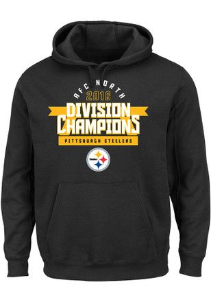 Nike Pitt Steelers Mens Black Division Championship Hoodie