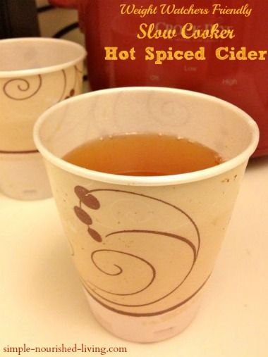 This slow cooker hot spiced cider is an easy, healthy and delicious way to celebrate fall with 117 calories and *3 PointsPlus