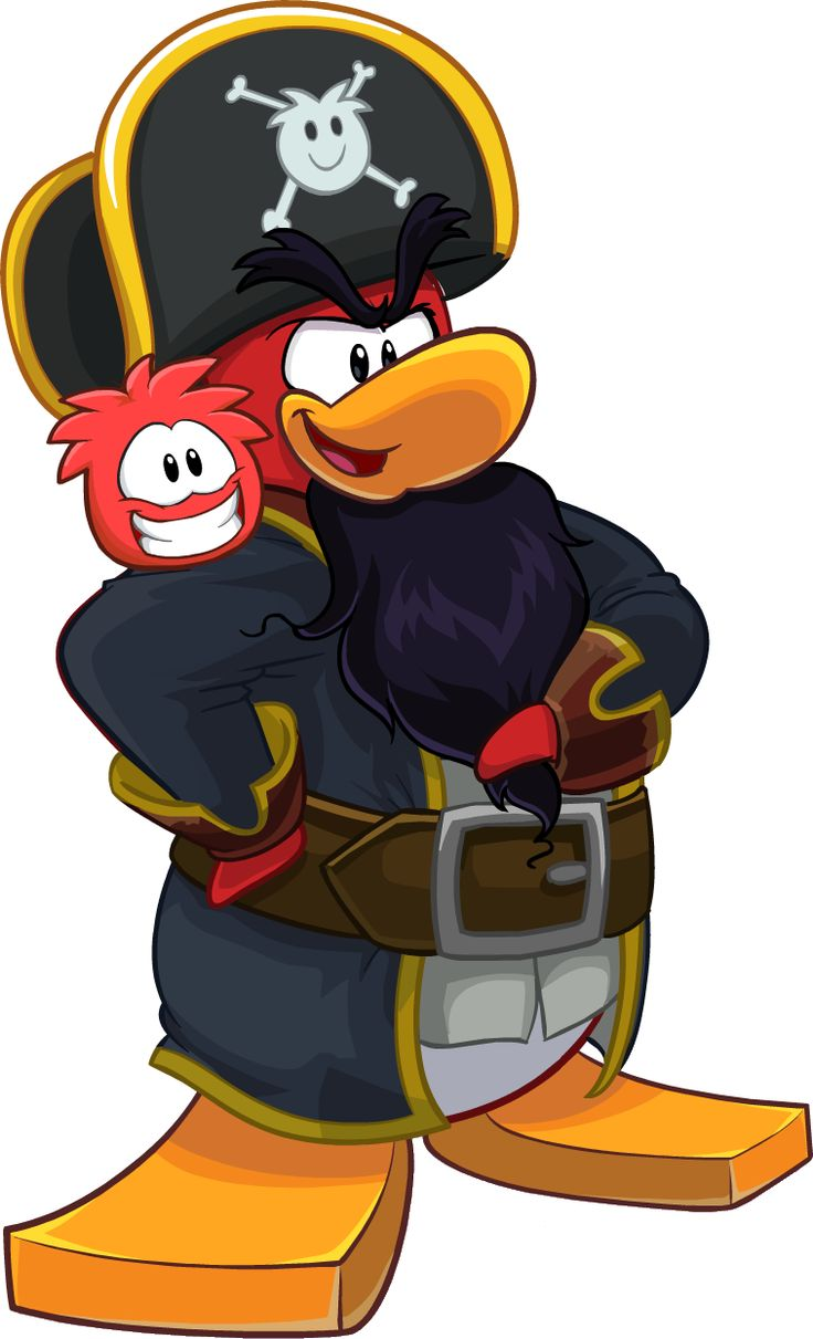 This is Rockhopper, he is one of the most common Club Penguin Mascots. He comes once a year at the end of the year.
