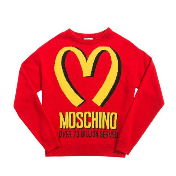 Moschino Fast Food Jumper McDonalds