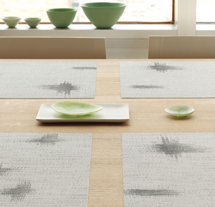 Kyoto is a jacquard design inspired by a subtle classic motif found in Japanese Kimono textiles. This is a contemporary placemat design guaranteed to wow your dinner guests