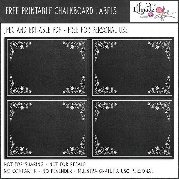 free editable chalkboard labels freebies mygraficocom