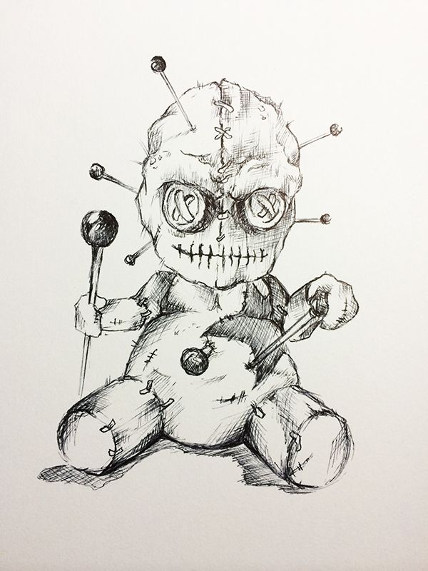 voodoo doll drawings - 600×800