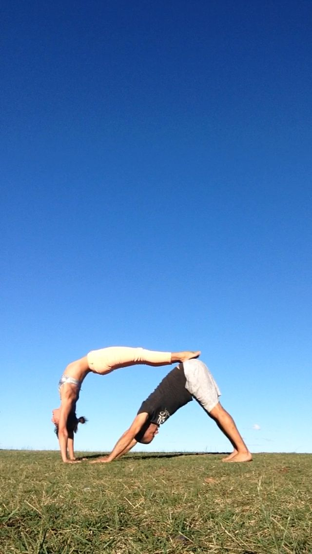 """""""Yoga with a friend or partner can deepen both our physical, emotional and spiritual sense of connectedness."""" Hot Yogi"""