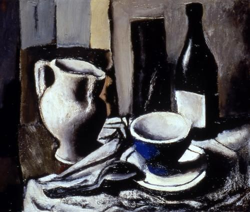 Still life with blue cup - Mario Sironi