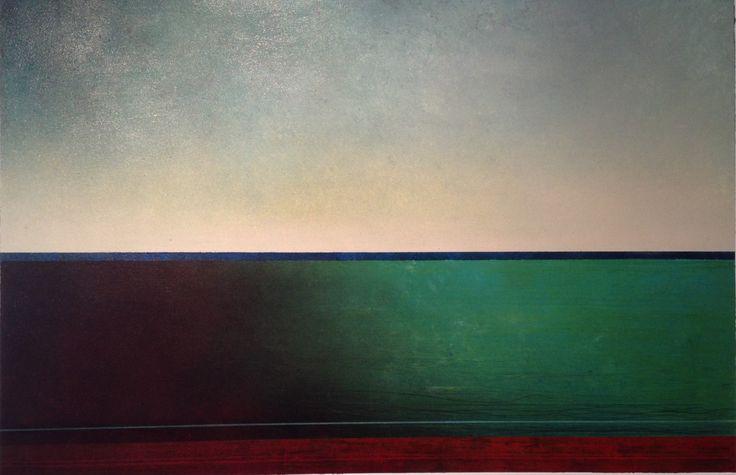 Richard Adams - Evening Fall - mixed media on canvas
