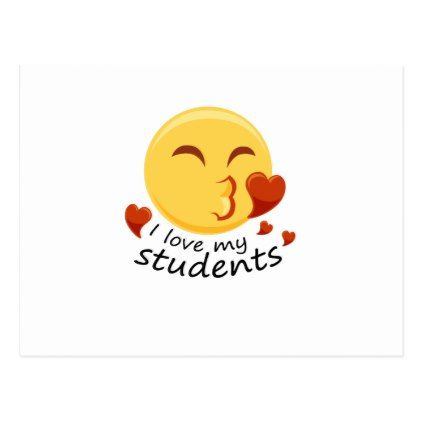 I love my students Teacher Emoji Funnys Postcard - graduation postcards cyo card giftideas gifts