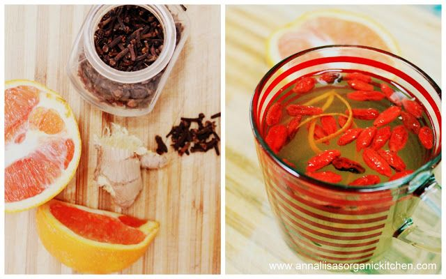immune boosting ginger tea with goji berries