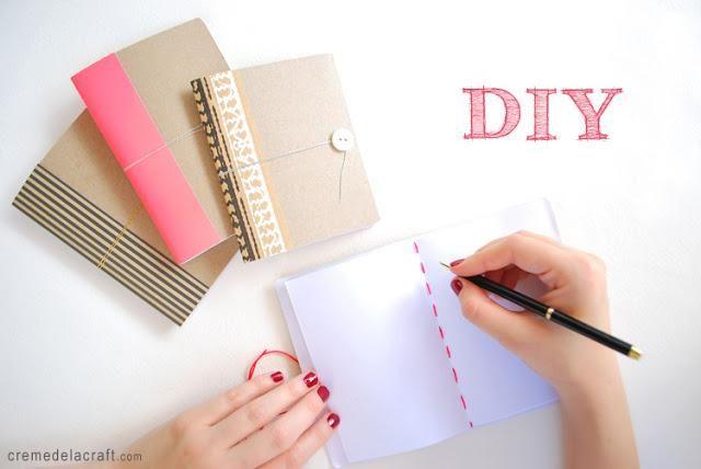 Fiche créative: Carnet DIY