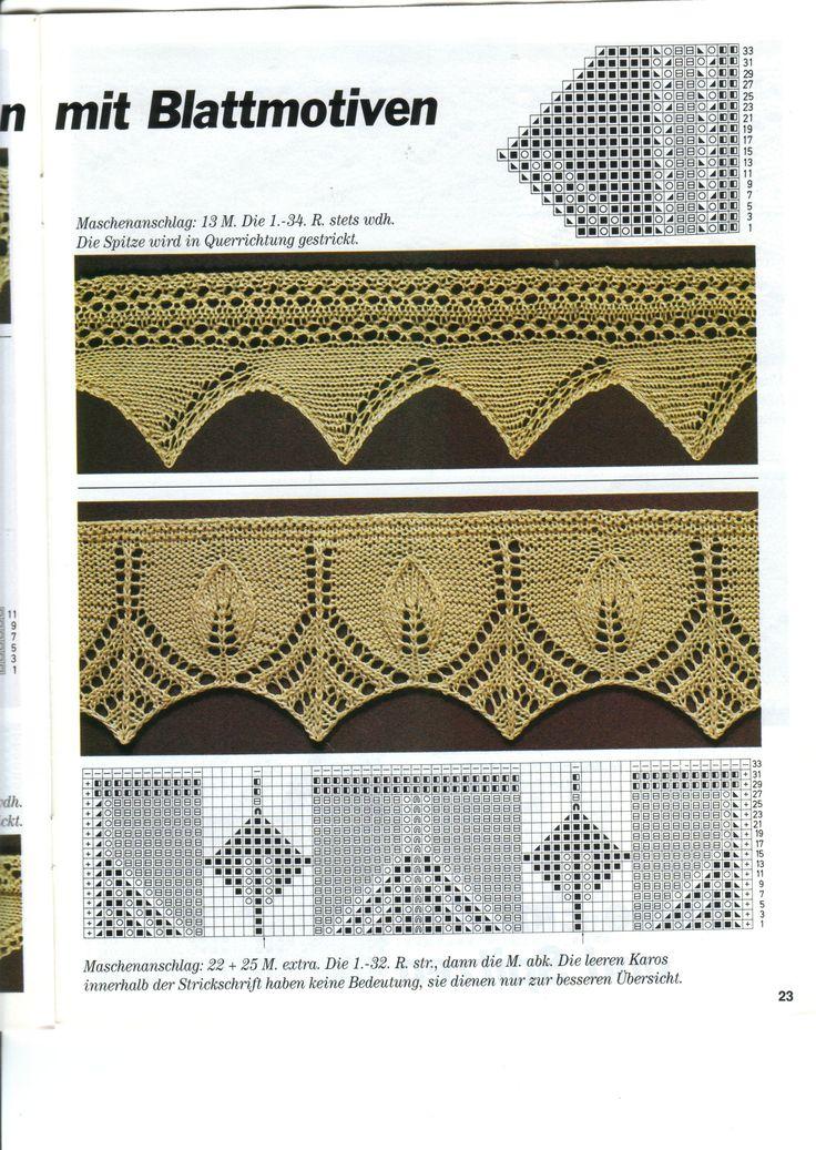knit lace border