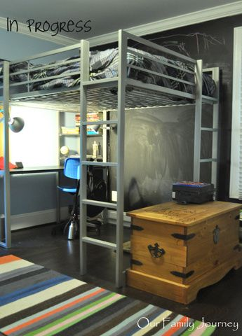 space theme room for pre teen boy | In Progress Guest Post from Our Family Journey: Preteen Boys Room