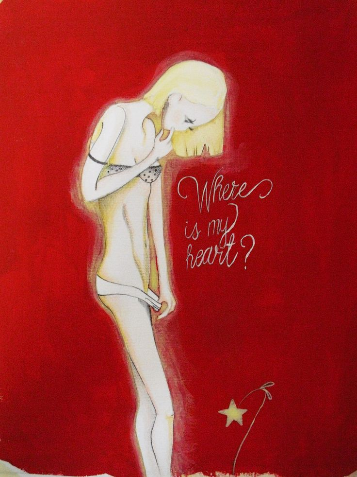Where is my Heart? Acrylic and cryon on paper, 2013 www.drunkenrabbit.jimdo.com