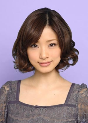 Adorable Ueto Aya sports the cutest curly medium-length hair of all time.