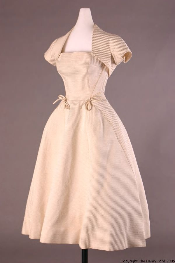 Dress with Jacket, 1952, The Henry Ford Costume Collection.