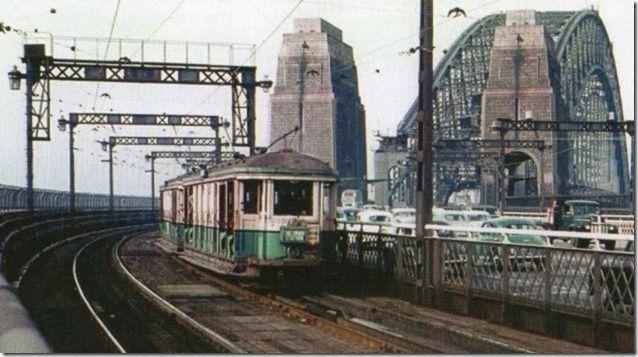 Sydney trams on the Harbour Bridge