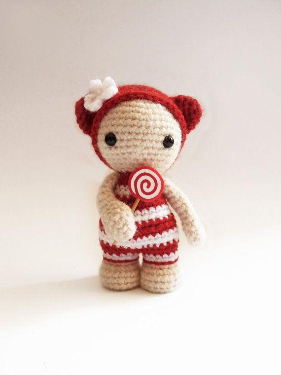 Miss Lollypop the cute amigurumi doll.  ༺✿ƬⱤღ  https://www.pinterest.com/teretegui/✿༻by CreepyandCute on Etsy, €26.50