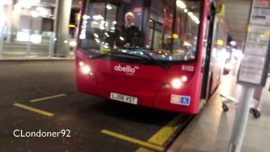 Buses and Coaches at Heathrow Airport Terminal 5 Filmed on 2nd November 2016