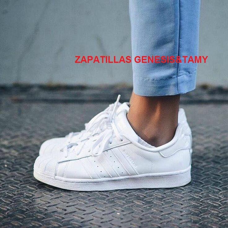 zapatillas superstar blancas mujer