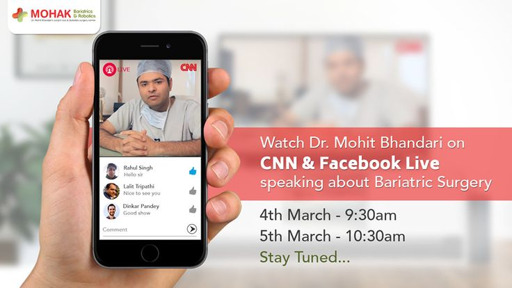 https://flic.kr/p/SxXk7h | Dr. Mohit Bhandari going live on CNN | Watch Dr. Mohit Bhandari on CNN live speaking about Bariatric Surgery on 4th March at 9:30am & 5th March at 10:30am. You can also watch him here on Facebook Live. Stay tuned!