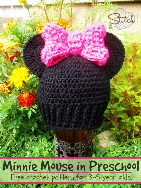 Free Crochet Hat Pattern For 6 Year Old : Minnie Mouse in Preschool Fiber Arts and Crafts - Yarn ...