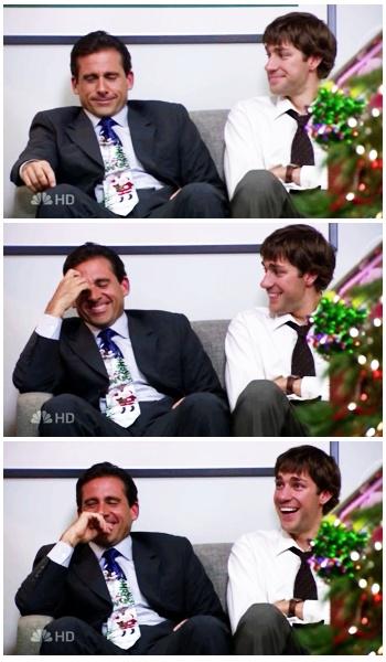 Steve Carell & John Krasinski I have small crushes on them...what can I say, I love smart, handsome, funny men...